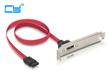 2pcs/lot Support SATA II internal to eSATA II external PCI Bracket Slot SATA II extension Cable 40cm(China)