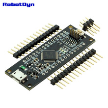SAMD21 M0-Mini. 32-bit ARM Cortex M0 core. Pins UnSoldered. Compatible with Arduino Zero, Arduino M0. Form Mini.