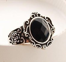 Hot Sale New Arrival Retro Personality Carved Mirror Ring --crystal shop free shipping(China)