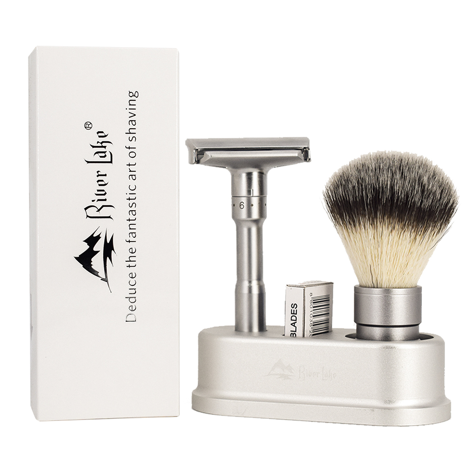 River lake Adjustable Safety Razor Double Edge Classic Safety Razor Men Shaving Mild to Aggressive<br>