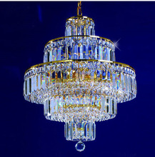 Phube Lighting French Empire Gold Crystal Chandelier Chrome Chandeliers Lighting Modern Chandeliers Light +Free shipping !(China)