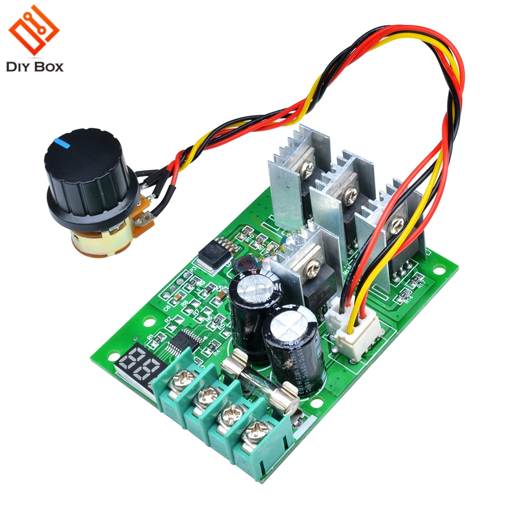 DC Motor Speed Governor 6-60V PWM Module 30A Digital Controller Switch Display