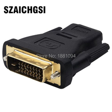 SZAICHGSI HDMI Cable Desktop DVI 24+1 Male to HDMI 19Pin Female M-F Adapter Converter for HDTV wholesale 500pcs/lot(China)