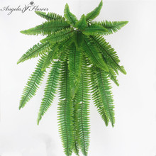 Simulation flower adornment grass green plant pot plants hanging Row grass fern leaf Persian arranging flowers with leaves(China)