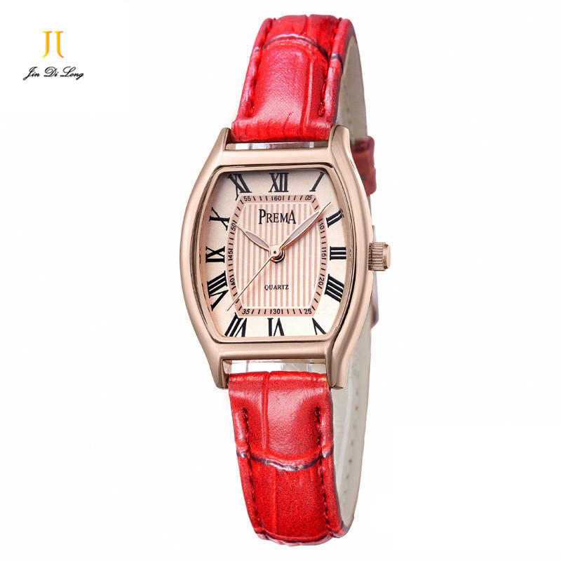 Student Fashion Elegant Ladies Casual Watch Women Quartz Wristwatch Leather Strap Watches Waterproof Rome Numeral Business Watch<br>