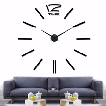 muhsein Home Decoration Big Mirror Wall Clock Modern Design 3D DIY Large Decorative Wall Clocks Watch Wall Unique Gift()