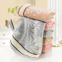 Pure Cotton Face Towels with Jacquard Weave 32 Strands Design Towels 3 Colors
