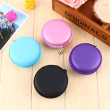 1Pcs Hot Sale Portable Mini Round Hard Storage Case Bag for Headphone SD TF Cards(China)