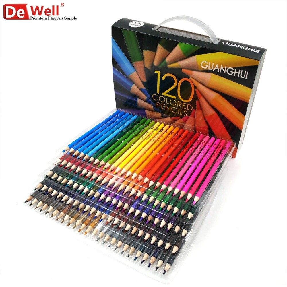 Professional Wooden 120/136 Colour Pencils Set Lapis De Cor 120 Unique Colors Oily Colored Pencils Set for Adult Coloring Books<br>