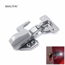MALITAI Cabinet Wardrobe Door 3 LED light lamp Auto Switch ON OFF Guide Night light Mount on Cupboard Closet Hinge Mini Bulb