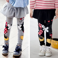 Baby Girls Leggings Spring 2016 New Children Mickey Printing Leggings Girl Pants Character Kids Pantskirt Infants Dress Leggings
