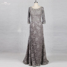 RSE770 Silver Gray Mother Of Bride Dresses Lace(China)