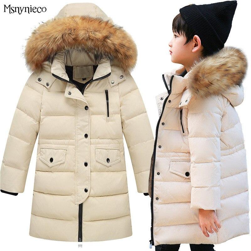 Children Winter Down Jacket 2017 Brand Boys Coat Warm Fashion Children Windproof Parkas White Duck Down Kids Overcoats OutwearÎäåæäà è àêñåññóàðû<br><br>