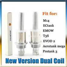 Steamtank Dual Coil Unit Core 1.5ohm 2ohm fit for Cartomizer Aerotank Mega Mini Protank 3 eVod 2 T3D M14 EMOW Atomizer Vaporizer