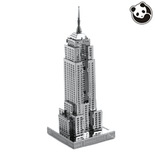 Pandamodel@Construction Famous buildings over the world 3D Metal model Puzzles EMPIRE STATE BUILDING Chinese Metal Earth