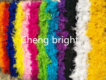 New ! 2 yards 40g chicken Feather Strip Turkey Feather Boa for wedding birthday party wedding decorations clothing accessories