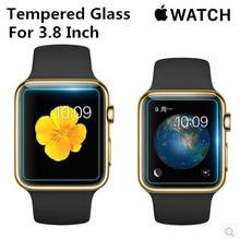 NEW 3.8 inch For Apple Wacth Tempered Glass Screen Protector HD Clear Explosion-proof Ultra Thin Protective Film +Retail box