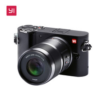 YI M1 Mirrorless Digital Camera With YI 42.5mm F 1.8 Prime Lens LCD international Version RAW 20MP Video Recorder 720RGB H264
