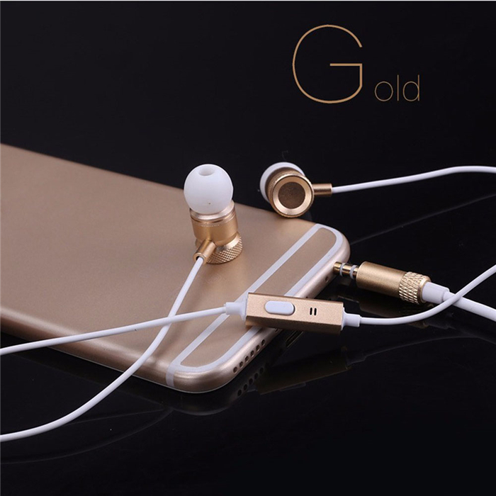 Wired Noise Cancelling Gaming Headset Bass Metal Earphones for Motorola Moto G5 Plus G5 XT1676 XT1662