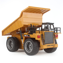 2.4G RC Truck Alloy 6 Channel Remote Control Multi-function Mine Dump Truck(China)