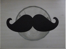 Promotion! Retail 100 Pcs/Lot Black Muctache DIY Decoration For Party Paper Straw Photo Props(China)