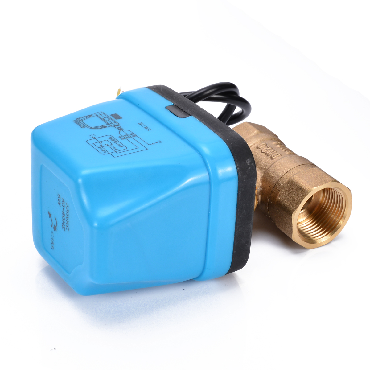 """High Quality Miniature Electrical Ball Valve Brass G3/4"""" DN20 3/4 Inch Two Ways 220V Control Motorized Ball Valve For Water"""