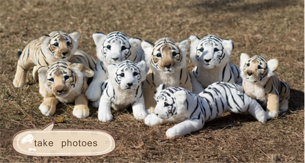 Fancytrader Soft Stuffed Animals Tiger Plush Toys Pillow Simulated Animal Baby Tiger Leopard Doll Brinquedo Toys For Children6