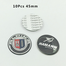 10Pcs 45mm Car Steering Wheel hub Emblem Sticker Steer wheel center badge(China)