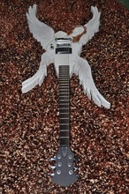 Hand made guitar Carved body electric guitar angel design body white color Custom electric guitar IN STOCK