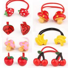 New Arrival styling tool cute Fruit Elastic Hair Bands accessories make you Beautiful used by women young girl and children