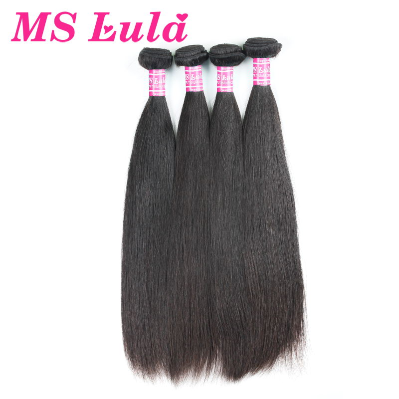 Free Shipping top quality unprocessed malaysian straight virgin hair 4pcs lot double weaving ms lula hair<br><br>Aliexpress