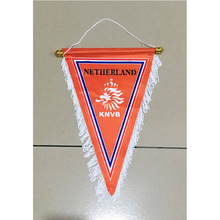 Netherlands National Footbal 35cm*25cm Size Double Sides Christmas Decorations for Home Hanging Three Corner Flag Banner Gifts(China)