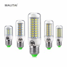 1XLED Corn lamp Smart IC Real No Flicker light 220V E27 24 36 48 56 69 72 81 89 LEDs Bulb Replace CFL 7W 12W 15W 20W 25W 30W 35W(China)
