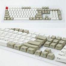Side-printed Front Print Retro gray 104 PBT Keycap OEM Profile For MX Switches Mechanical Keyboard Gaming Keyboard Free Shipping