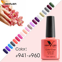 New Arrival Venalisa 7.5ml 60 Color Long-lasting Soak Off UV Gel Nail Polish gel lacquer led uv nail color gel nail polish