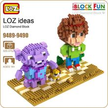 LOZ Diamond Block Building Alien Action Figure Assembly Toy Children Nano Mirco Brick Pixels Educational Cartoon 9489-9490 - ideas Store store