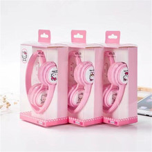 High quality Cartoon Hello kitty Headphones Foldable Headset with Microphone for Children fone de ouvido