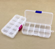YYW Cheap Wholesale 10 cells Plastic lots Adjustable Jewelry Storage Box Case Craft Organizer Beads Container for Designer DIY