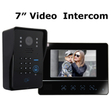 "Home Security 2.4G Wireless Video Door Phone Intercom Doorbell IR Camera with 7""LCD Monitor Video Door Phone(China)"