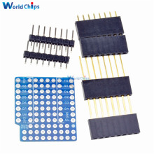 Breadboard Expansion Shield Pin Lithium Battery ProtoBoard Shield For WeMos D1 Mini Module Sensor Mini Double Sided Perf Board(China)