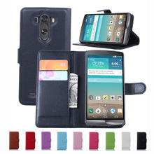 Wallet Case For LG G3 D855 F400 D851 LGG3 PU Leather Kickstand TUP Back Shell Pink Rose Green Purple Blue Black White Brown