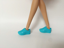 Sports shoes Blue Shoes accessories for barbie dolls D150(China)