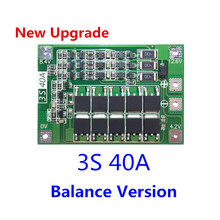 3S 40A BMS 11.1V 12.6V 18650 lithium battery protection Board with balanced Version for drill 40A current(China)