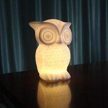 LED Night Light cartoon Owl Shape White/Warm Light PVC Table Lamp Indoor Decorative Nightlight for Kids Room Party Decor(China)