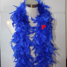 2 yards Wedding Party Holiday Decorations Clothing Dress Accessories Turkey Feather Strip Fluffy Blue DIY Boa Birthday Supplies