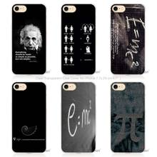 Hot Sale e mc2 with E=mc Math Albert Einstein Hard Transparent Phone Case Cover Coque for Apple iPhone 4 4s 5 5s SE 5C 6 6s 7 Pl