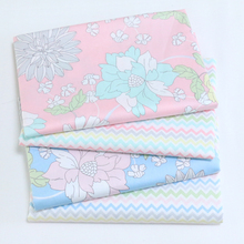Diy Cotton Fabric for Sewing Patchwork Quilting Doll Cloth Handmade Needlework Material Telas to Patchwork Tissue Flower Wave