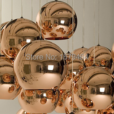 LED 5w Mini Bronzeobe Pendant, 1 Light, Minimalist Metal Glass Electroplating<br><br>Aliexpress