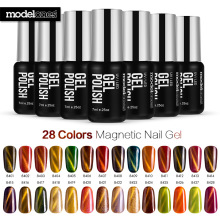 Modelones Gel Polish Shiny Chameleon Cat Eyes UV Nail Gel Polish Long Lasting DIY Nail Art Magnetic Gel Polish Soak Off Polish(China)