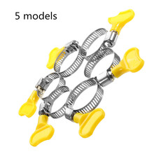10PCS 5 models Plastic Handle Stainless Steel butterfly Jubilee Fuel Hose Clamps Pipe Clips Air Water Homebrew Pipe Clamp